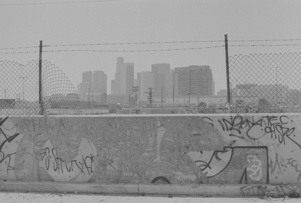 Los Angeles – Skidrow/ downtown view.