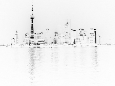 Shanghai in white