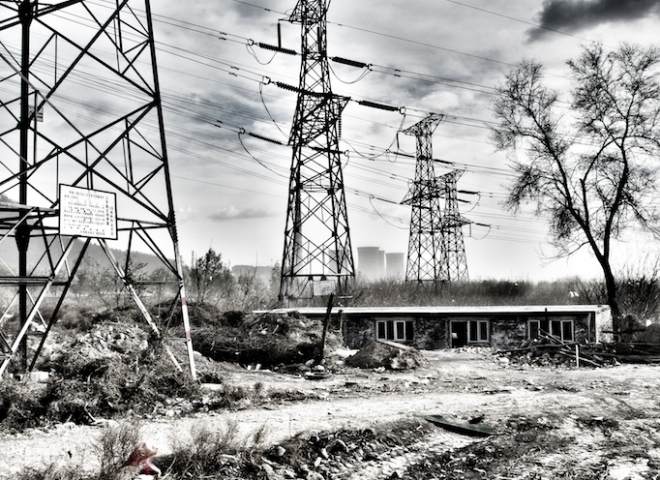 Yongding River – Power Lines